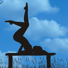 Shoulder stand is part of the Iyengar series to reduce stress.